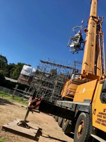 Modulift Spreader Frame Lifts Iconic Bell Tower