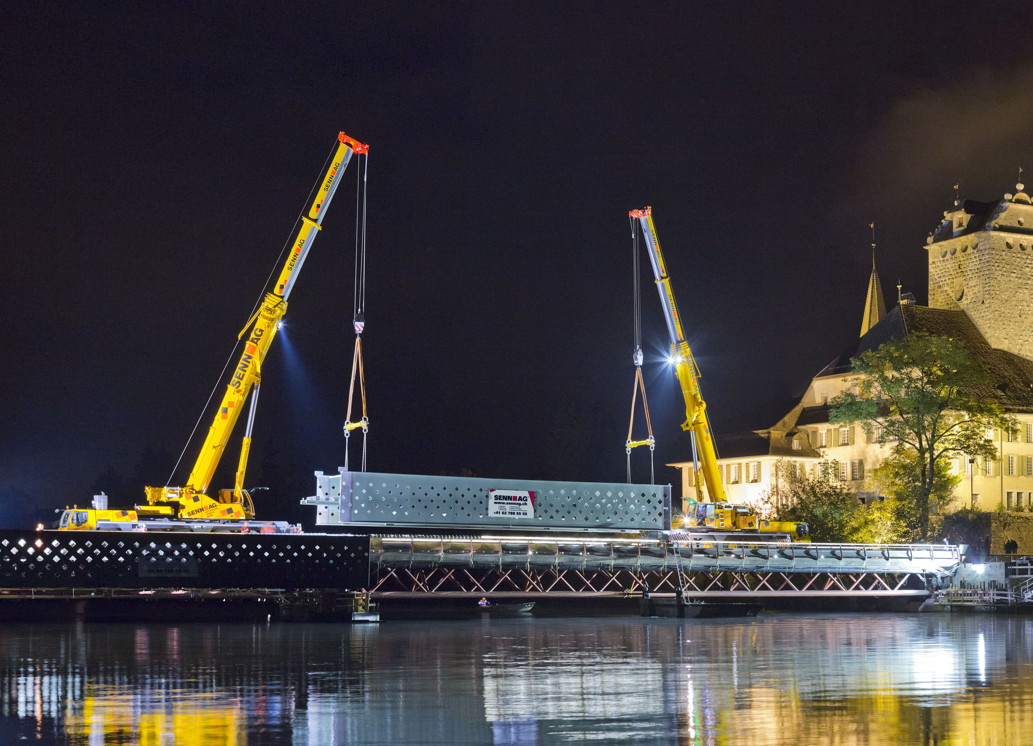 Modulift Below-the-Hook Equipment for Bern Bridge Project